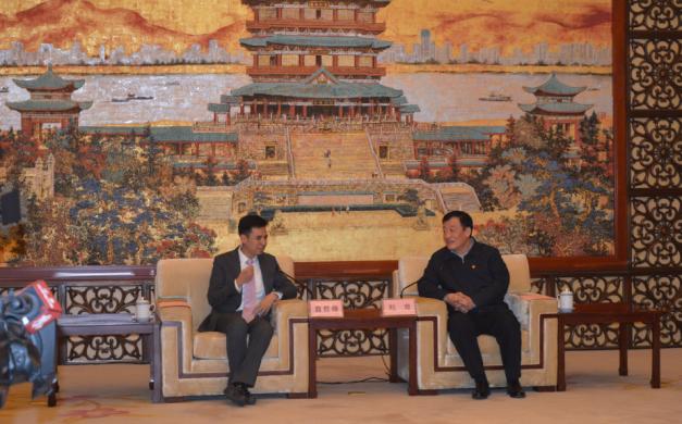 """杰艾集团总裁翁哲锋先生受江西省省长刘奇邀请前往洽谈""""人才+资本+产业""""新模式"""